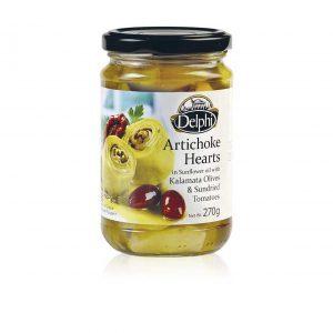 Артишоки с сушеными томатами и маслинами