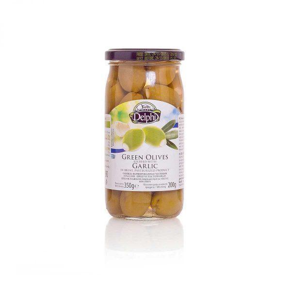Оливки фаршированные чесноком в рассоле 350г