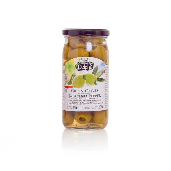 Оливки фаршированные перцем Джалопено в рассоле 350г