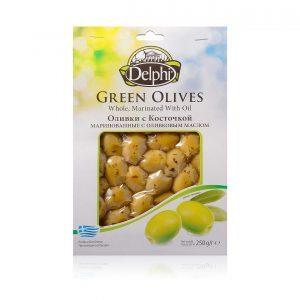 Оливки с косточкой маринованные в масле 250г