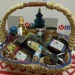 подарочная корзина с оливковым маслом