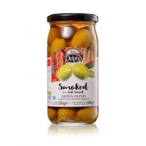 Оливки с косточкой копченые 350г