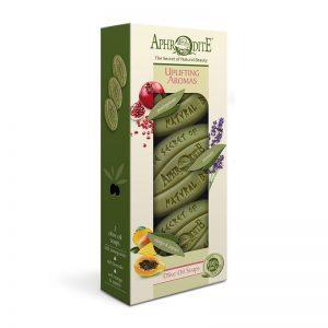 Подарочный набор мыла оливкового Бодрящие ароматы 3 255г