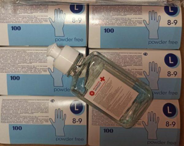 Перчатки в коробке 100шт