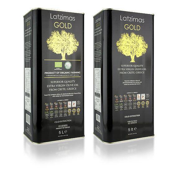 81.0038Масло оливковое Extra Virgin Latzimas Gold 5л