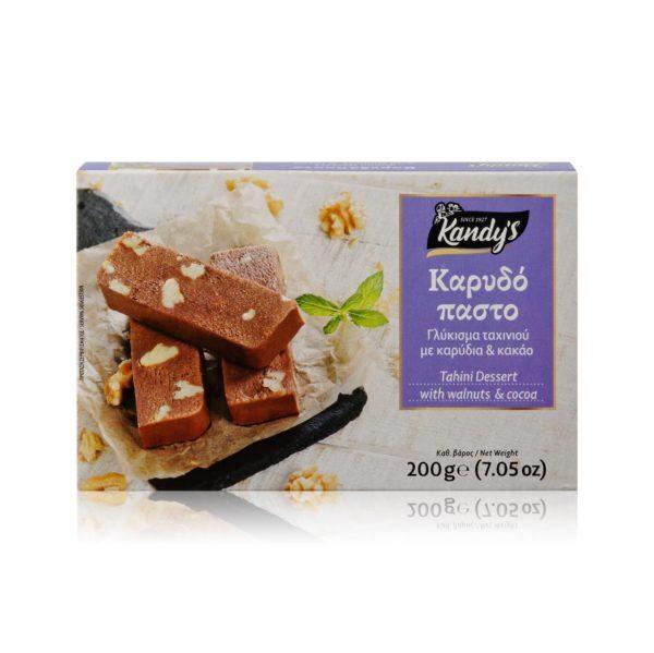 13.0073Десерт из кунжута с какао и грецким орехом 200г