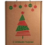 подарочная коробочка из коричневого экокрафткартона