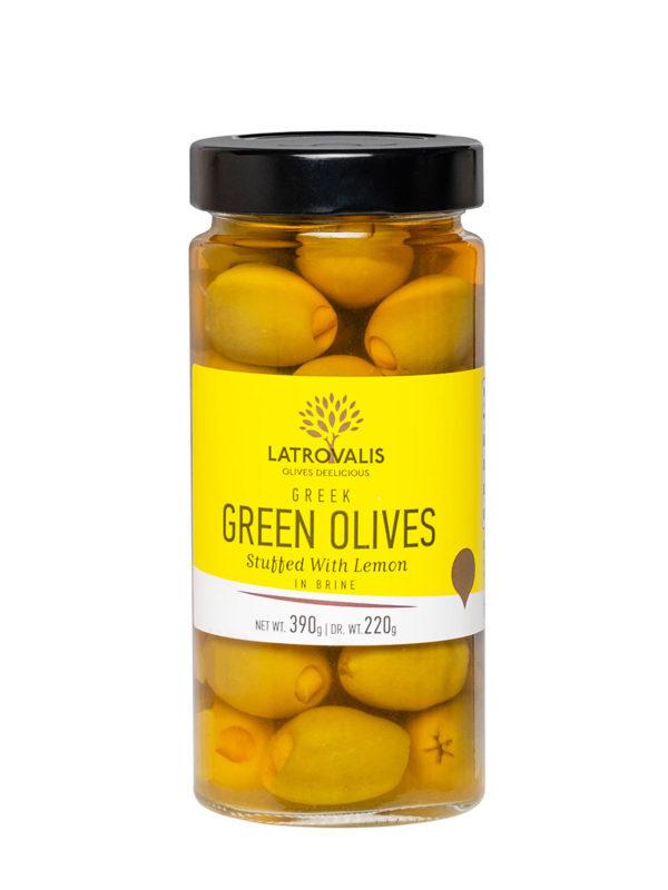 Оливки фаршированные лимоном в рассоле 390г