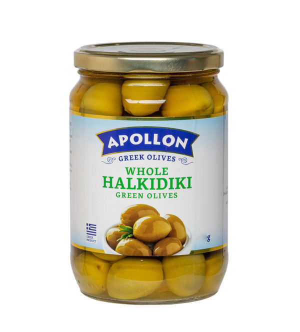 Оливки каламон Apollon с косточкой 360гр