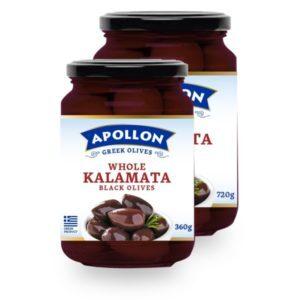 Оливки Каламата Apollon с косточкой 360гр