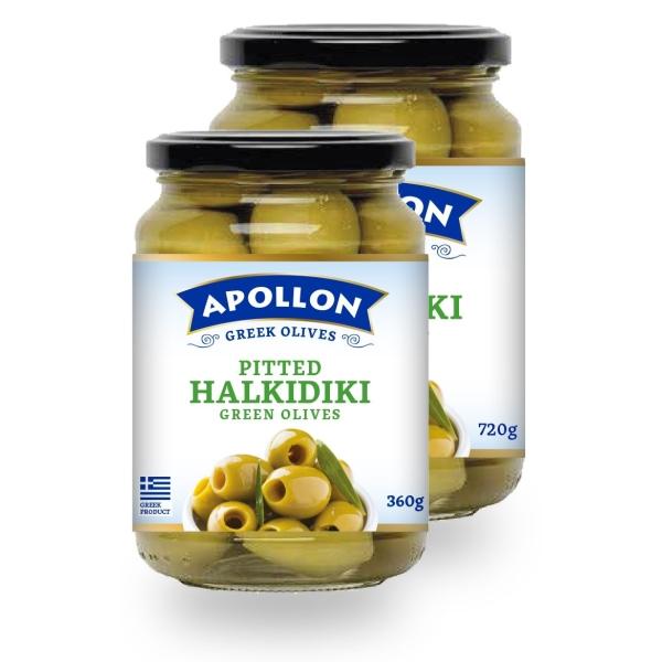 Оливки каламон Apollon без косточки 360гр